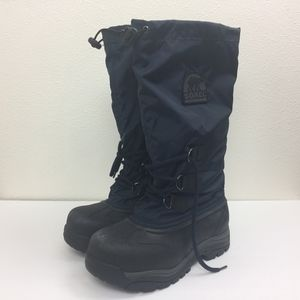 Sorel Snowlion Navy Insulated Winter Snow Boots 8